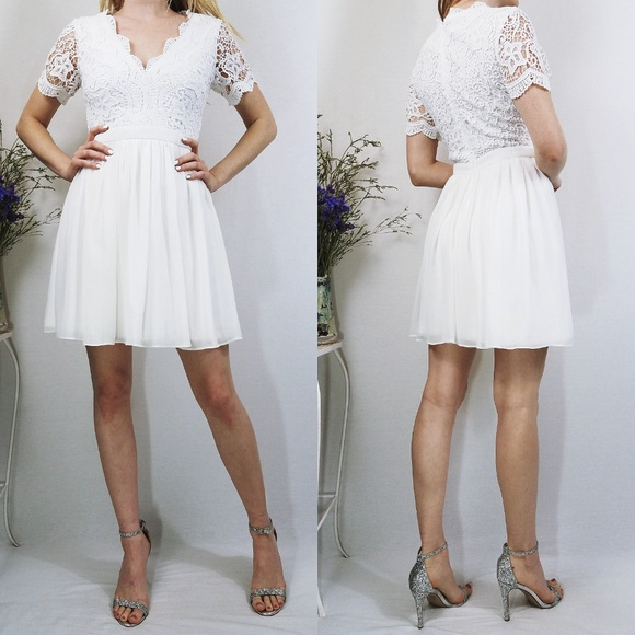 e1967c186ba Lulu s Dresses   Skirts - Lulus Angel in Disguise White Lace Skater Dress